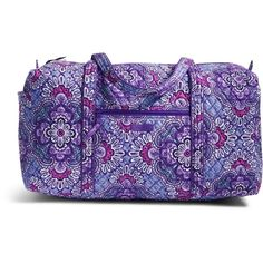Vera Bradley Large Duffel 2.0 Travel Bag in Lilac Tapestry (345 RON) ❤ liked on Polyvore featuring bags, luggage and lilac tapestry