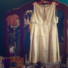Tulle dress Retro polka dot dress in off white. Never worn. Tulle Dresses