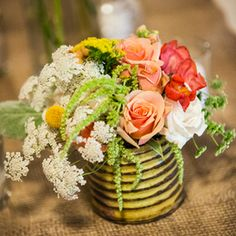 rustic centerpiece, denver florist 80206, cherry creek florist - www.bellacalla.com - Bella Calla - Denver Vail Aspen Florist