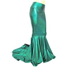Mermaid Skirt Sparkling Fish Tail Costume Fairy Circle Skirt Green... (285 PLN) ❤ liked on Polyvore featuring grey, skirts and women's clothing