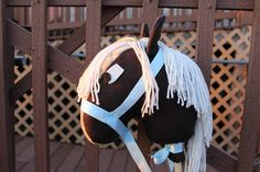 Stick Horse Organic materials Hobby Horse Handmade Stick
