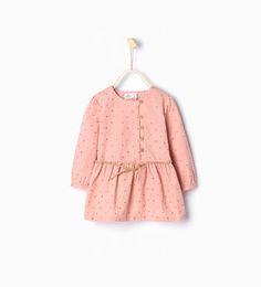 Image 1 de Robe en velours côtelé à étoiles de Zara