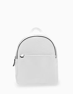Contrast backpack with pocket - Bags | Stradivarius United Kingdom