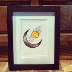 Framed Crescent Moon  #skull #jewelry #love #trendy www.facebook.com/skullsandstones