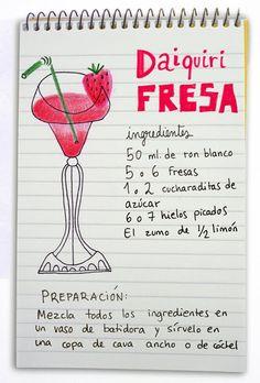 Daiquiri fresa: cóctel con ron