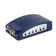 Fosmon PC to TV Video Converter Box - Converts VGA Video Input to RCA Video, S-Video & VGA Outputs - Blue by Fosmon Technology. $11.95. Use TV as PC monitor to view presentations, games, pictures and movies or browse the Web.Want to hook up your computer to your TV but your TV doesn''t have a VGA input? Then this is your solution. This converter box will convert a VGA computer display signal into a composite (Yellow RCA) and/or S-video TV display signal. It ev...