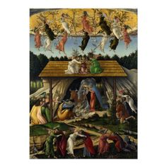 Mystical #Nativity by Sandro #Botticelli Custom #Invitation