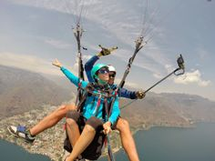 A North American Migration: XShot photo of the week paragliding in Mexico double XShot Pro selfie by Cade Palmer and Becca Bredehoft #paragliding