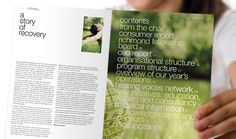 Richmond Fellowship - Annual Report, Graphic Design