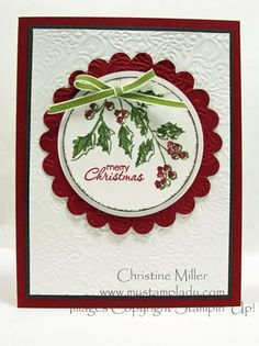 SU! Watercolor Winter stamp set - Christine Miller