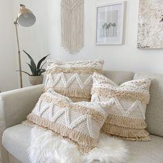 How To Make Pillows, White Throw Pillow Covers, Ivory Pillow, Bohemian Pillows, Fringe Pillows, White Throw Pillows, Pillows, Boho Throw Pillows, Floor Pillows