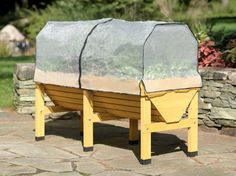 The VegTrug Patio Garden Frame & Greenhouse Cover creates a protected microclimate for plants in your VegTrug. Start planting earlier in spring and extend the growing season later into fall. Elevated Garden Beds, Raised Garden Beds, Raised Beds, Elevated Bed, Raised Bed Kits, Greenhouse Cover, Greenhouse Gardening, Gardening Tools, Living Pool