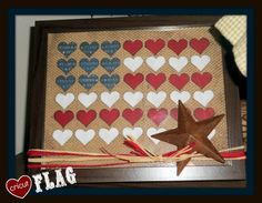 Using your cricut to make a fun rustic flag picture