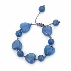 Lola Rose Ellie-May Heart Stone Bracelet - Blue Bird Bangle Bracelets, Bangles, Lola Rose, Stone Heart, Stone Bracelet, Blue Bird, Jewellery, Drop Earrings, Bracelets