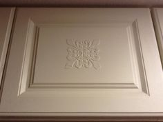Superior With Drywall Compound And A Stencil You Can Dress Up Plain Kitchen Cabinet  Doors.