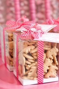 favors with animal print ribbon