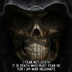 I fea not death