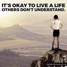 It's okay to live a life others don't understand. #Ziglar budurl.com/SBD87062 by thezigziglar Zig Ziglar, Dont Understand, Its Okay, Grand Canyon, Motivation, Live, Nature, Instagram Posts, Travel