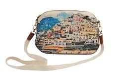 Le Sirenuse summer 2014 Collection small bag with view of Positano town #AmalfiCoast #Positano #Bag #Fashion