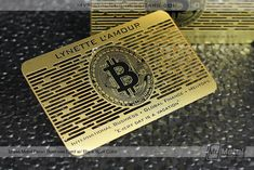 If you're a businesswoman who's looking to make an impact, our custom Metal Business Cards are a great way to confidently and successfully market yourself. Bitcoin Logo, Bitcoin Business, Metal Business Cards, Business Card Design, Business Card Dimensions, Balloon Logo, Plastic Card, Custom Metal, World Leaders