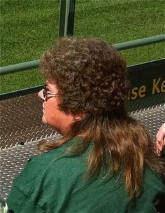 A rare perm/mullet sighting.