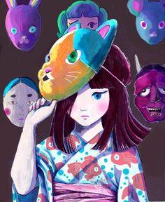 Summer festival masks