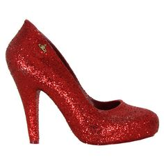 Vivienne Westwood - Shoes Glitter Skyscraper Red Shoes ($285) ❤ liked on Polyvore
