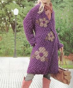 This Pin was discovered by Son Crochet Coat, Crochet Cardigan Pattern, Crochet Jacket, Crochet Shawl, Crochet Clothes, Diy Clothes, Free Crochet, Hippie Crochet, Denim Ideas