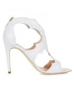 Cut-out leather sandals @Pascale De Groof