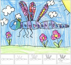 For instructions on how to learn to draw a dragon fly, visit:  http://www.artprojectsforkids.org/2011/02/how-to-draw-dragonfly.html