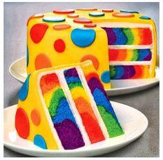Polka dot cake- Differnet colors