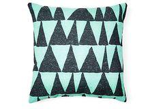 Analogous 20x20 Outdoor Pillow, Green on OneKingsLane.com