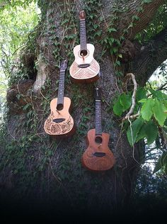 Uke Birdhouses what a great idea