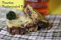 Bourbon Butterscotch Bars - easy, quick, stir-by-hand and can make gluten free by using rice flour (slightly less...)
