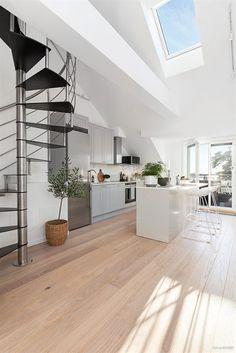 Kitchen in a Scandinavian penthouse