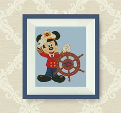 BUY 2, GET 1 FREE! Mickey Mouse cross stitch pattern, Instant Download, pdf, P235 by NataliNeedlework on Etsy