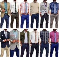 More patterns, more color, a couple of blazers and a sweater moment. Stylish Mens Outfits, Business Casual Outfits, Casual Shirts, Look Fashion, Fashion Outfits, Mens Fashion, Style Masculin, Men Style Tips, Mode Style