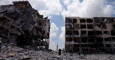 Destruição causada por bombardeios na faixa de Gaza - Fotos - UOL Notícias