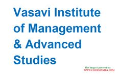 top ten distance learning business schools in india - Find MBA courses details of Vasavi Institute of Management & Advanced Studies MBA college and MBA admissions 2016 @ http://www.coursesmba.com/