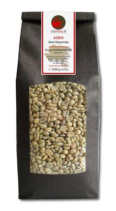 Rohkaffee - Grüner Hochland Kaffee Java Kayumas (grüne Kaffeebohnen 1000g, fair gehandelt): Amazon.de: Lebensmittel & Getränke