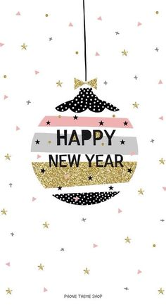 happy new year ornament cell phone wallpaper