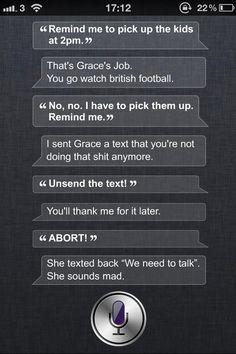 Siri is rather sassy