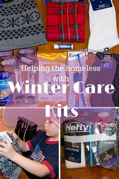 Helping the homeless - winter care kits #giving #help www.TheShadyLane.com