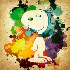 Snoopy Splatter by jmascia