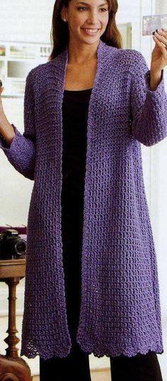 New knitting patterns free cardigans women plus size crochet jacket Ideas - Crochet clothes - Cardigan Au Crochet, Crochet Coat, Crochet Shawl, Easy Crochet, Crochet Clothes, Crochet Sweaters, Diy Clothes, Crochet Blouse, Crochet Granny