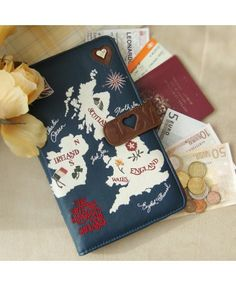 Jan Constantine Map Travel Wallet - Browse All - Disaster Designs - Browse by Brand | TemptationGifts.com