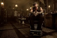 rhubarbes:  Barber Portrait in Schorem Barber Shop by NEW DAY Studio Photography.
