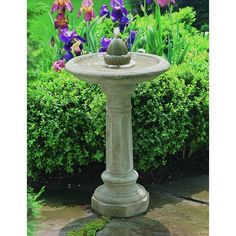 Have to have it. Campania International Acorn Bird Bath Fountain - $469.99 @hayneedle.com -- made of cast stone, choice of finishes