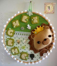 Name Crafts, Felt Crafts, Diy Crafts, Mobiles, Cute Toys, Felt Fabric, Love Sewing, Felt Art, Baby Birthday