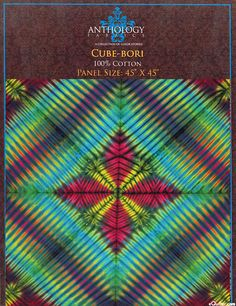 "Cube-Bori - Shibori Hand-Dye - 45"" x 45"" PANEL -Quilt Fabrics from www.eQuilter.com"